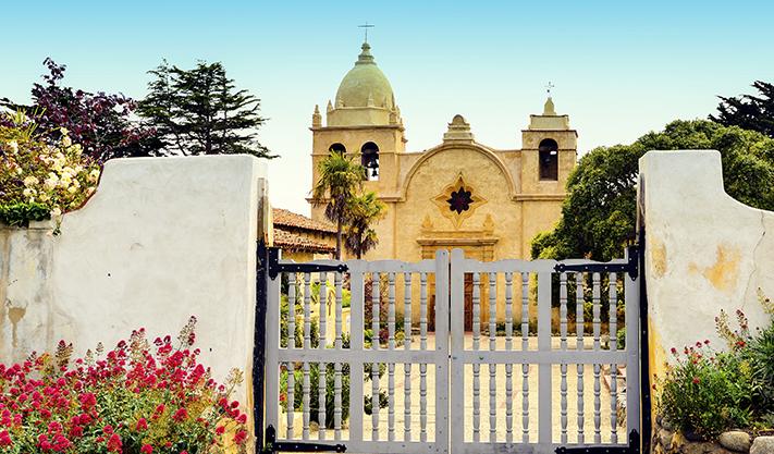 Carmel Mission Basilica Museum at california